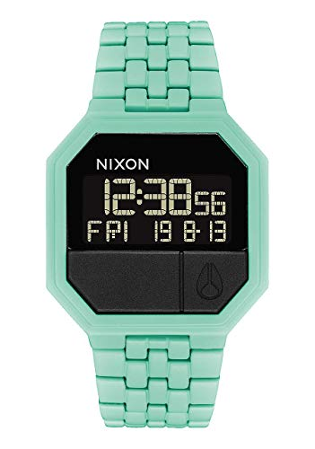 Nixon Re-Run A158. 100m Water Resistant Men's Digital Watch ( Digital Watch Face. 13-18mm Stainless Steel Band)