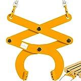 BestEquip 3T Pallet Puller Steel Double Scissor Yellow Pallet Puller Clamp 6614...
