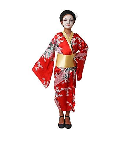 Costumizate! Disfraz de Geisha Talla 5-6 Especial para niños Fiestas de Disfraces o Carnaval