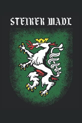STEIRER MADL: Notizbuch   liniert   120 Seiten   A5 Format (15.24cm x 22.86 cm)  Notizbuch Notizheft Notiz-Block  Steiermark Notizbuch