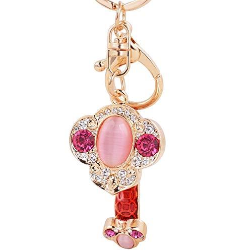 Chinese Stil Glück Zeichen Ruyi Mode-Metall-Schlüsselanhänger Auto-Tasche verziert Geschenk Anhänger Schlüsselanhänger Auspicious Zubehör Schlüsselanhänger (Color : Red)
