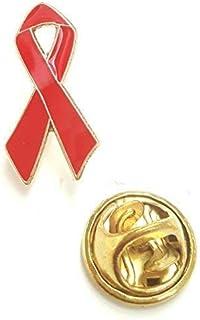 Grande Rosso Consapevolezza Smalto Dorato Colore Edgeing Nastro Spilla Badge