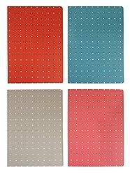 Emartbuy Punkte Softcover Heft Tagebuch Notizbuch B5 Größe (64 Seiten) - 4 Stück