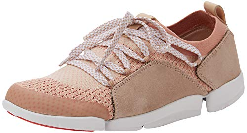 Clarks Damen Tri Amelia Sneaker, Pink (Light Pink Combi), 39 EU