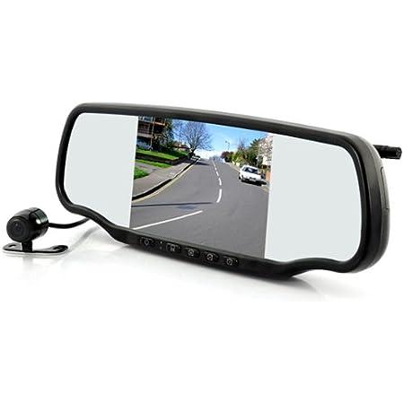 Generic Auto Rückspiegel Dashcam Und Wireless Rückfahrkamera 5 Zoll 12 7 Cm Monitor Gps Radarkontrollen Aufspürer Bluetooth Auto