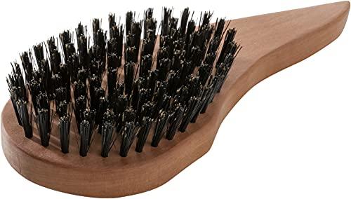 REMOS Natur Haarbürste aus 100{f3ef989b9d72a1e7413bcfabd35b70a8cd916c89899267f9dfbf4e4b7843a0eb} Wildschweinborste mit ergonomischem Griff