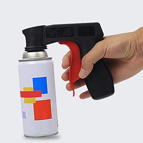 Utensile per vernice spray, con manico e manico per bomboletta, per contenitore di lattine, supporto, adattatore spray per aerosol, impugnatura con tappo di scarico