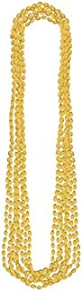 Amscan Metallic Bead Necklaces, Party Accessory, Gold