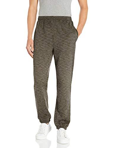 Amazon Essentials Men's Closed Bottom Fleece Sweatpants, Olive Space-Dye, Large