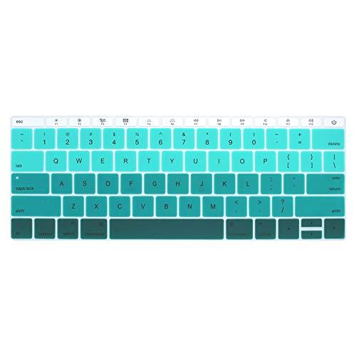 US-Ente - Funda para teclado portátil para MacBook 12 Pro13 sin barra táctil de silicona para teclado A1534 A1931 A1708 A1988-I