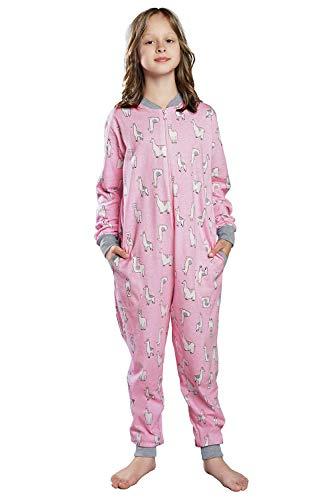 Italian Fashion IF Pyjama für Mädchen, Winter, Baumwolle (14 Jahre, Rosa Grau)