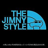 ジムニー 4代目JB64/JB74系ステッカー THE JIMNY STYLE【カッティングシート】パロディ(12色から選べます) (スカイブルー)