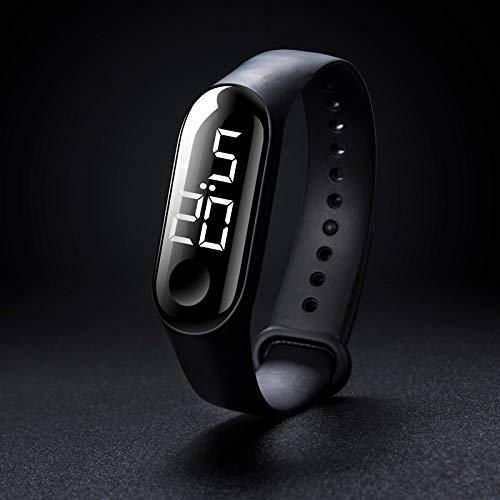 Pamura - FLEXHIT - Silikonuhr - Digitaluhr - Digital - Armbanduhr Damen - Armbanduhr Herren - Unisex - Silikon - Schwarz