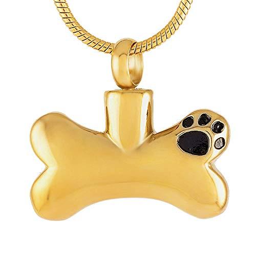 LLSJF Cremación Recuerdo Collar Urna para Cenizas Collar Colgante De Joyería De Cenizas para Mascotas Joyería De Recuerdo para Mascotas De Cenizas