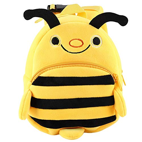 HelloCreate Preschool Lunch Bag Cartoon Little Bee Childrens Backpack for Toddler Baby Girl And Boy 2-4 Years Old