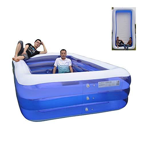 JCCOZ -URG - Piscina inflable de tamaño completo para adultos, piscina inflable de varios tamaños de interacción familiar, fiesta de verano adecuada para exteriores, jardín, patio trasero portátil URG