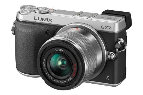 Panasonic DMC-GX7KEG-S Fotocamera Mirrorless, Lente LEICA, Obiettivo 14-42 mm, Micro 4 3, Wi-Fi, NFC, Argento