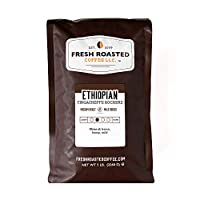 Ethiopian Yirgacheffe Coffee, Whole Bean Bag, Fresh Roasted Coffee LLC. (5 LB.)