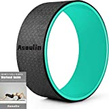 Yoga Wheel for Back Pain & Stretching, 12.6'x5.11' Yoga Roller Back Wheel Yoga Prop Wheel with Thick Cushion for Improving Flexibility, Backbends & Yoga Poses-Support 330LBS, Strong & Comfortable