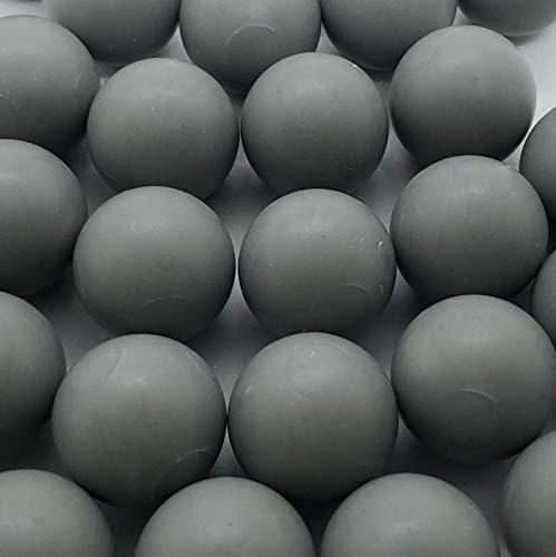 50 x graue Weniger Tödlich .68 Kaliber Kugeln 10 g Metallball mit PVC-Beschichtung Paintballs Selbstverteidigung weniger tödlich Paintballs