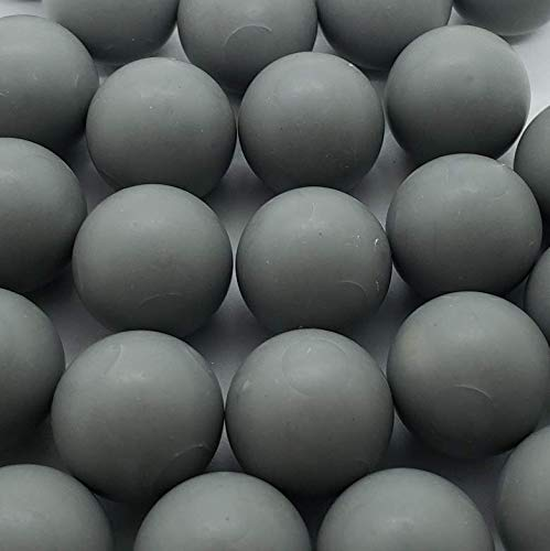 50 X Grey Less Lethal .68 Cal Balls 10 Grams Metal Ball with PVC Coating Paintballs Self Defense Less Lethal paintballs
