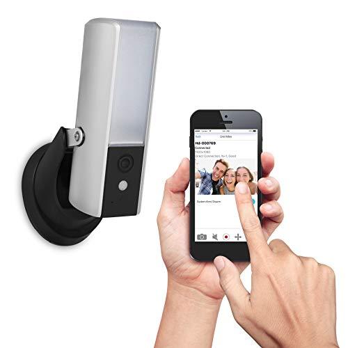 Smartwares CIP-39901 - Cámara de Vigilancia Exterior WiFi – Proyector de luz incorporado 1080p full HD