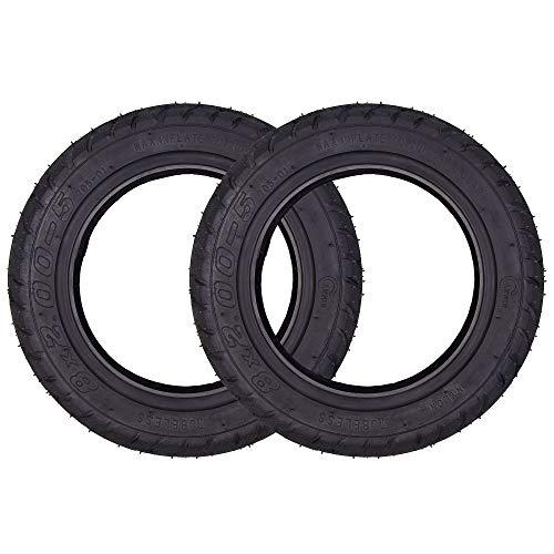 Juego de 2 neumáticos de 8 x 200 – 5 Tubeless Tire de 8 pulgadas, repuesto para patinete eléctrico universal