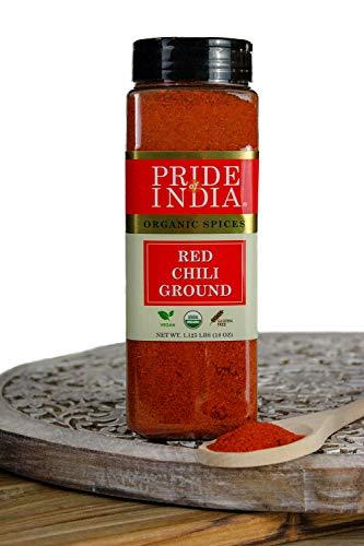 El orgullo de la India - Orgánica de chile rojo molido,