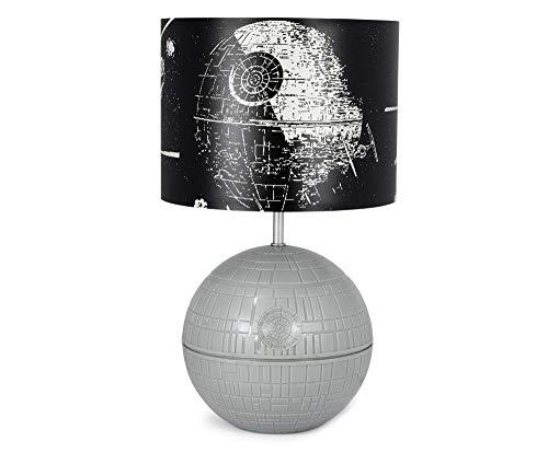 FJC Lámpara LED de Escritorio Star Wars 3D Death Star con Pantalla de Escena de Lucha Impresa