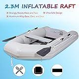 Orion Motor Tech Gommone Gonfiabile per Adulti 230x130x33cm Zattera Portatile per 2 Persone capacità 300 kg Kayak Barca PVC per Derive per Nautica Pesca Gioco