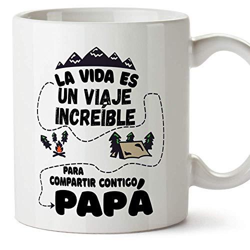 MUGFFINS Taza Papá (La vida es un viaje increíble) - Regalos Originales y Divertidos para el Día del Padre