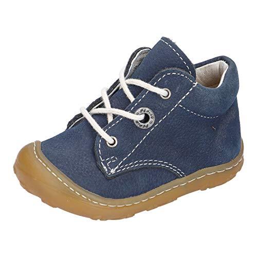 RICOSTA Unisex - Kinder Lauflern Schuhe Cory von Pepino, Weite: Schmal (WMS),terracare, schnürschuh schnürstiefelchen flexibel,See,19 EU / 3 Child UK