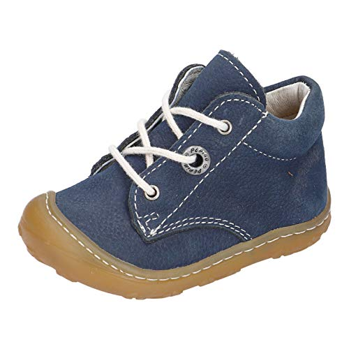 RICOSTA Unisex - Kinder Lauflern Schuhe Cory von Pepino, Weite: Weit (WMS),terracare, schnürschuh schnürstiefelchen flexibel,See,25 EU / 7.5 Child UK