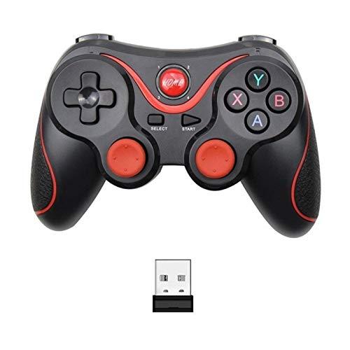 KPBHD For Terios T3 X3 Wireless Gamepad Joystick Gamepad Bluetooth BT3.0 Palanca de Mando, for la Tableta del teléfono móvil de TV Soporte de Caja (Color : T3 with Adapter)