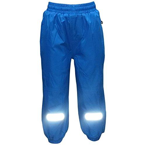 Outburst - Mädchen Regenhose Matschhose Fleecefutter wasserundurchlässig, blau, Größe 134