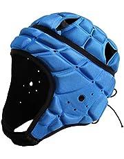 BESPORTBLE Casco Deportivo Portero Portero Portero de Fútbol Casco Protector de Cabeza Soporte para Hockey Fútbol Rugby (Tamaño Libre Azul)