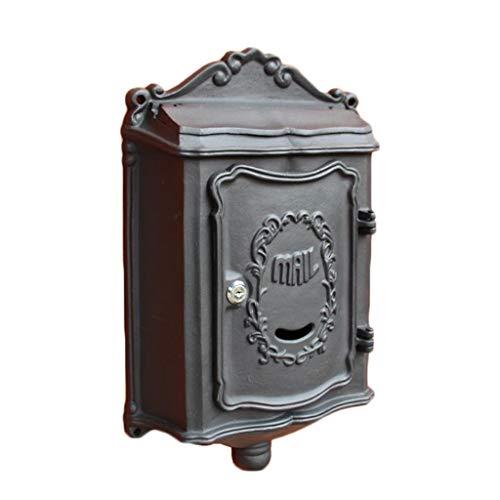 Postvak, Vintage Aluminium Muur gemonteerde Mail Box Post Box Secure Buiten Waterdichte Brievenbus voor Villa Tuin Appartement Zwart