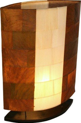 Lámpara de mesa nelius en 3tamaños o como Juego–exóticas Bali lámpara de material de Natural–Estado de Ánimo lámpara, Lámpara de mesa–Tamaño: Set, 40y 50
