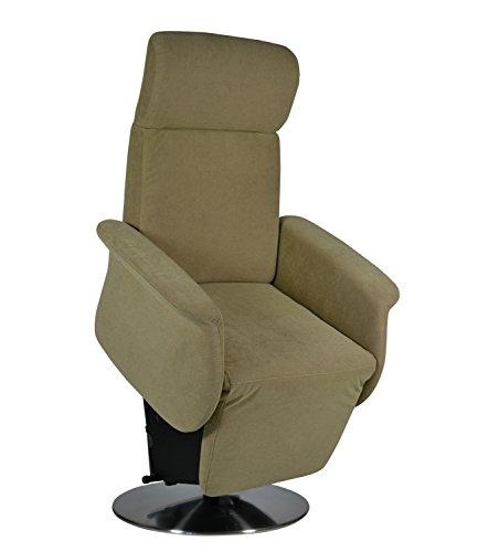 DEVITA elektrischer Aufstehsessel Fernsehsessel Relaxsessel Pflegesessel mit Aufstehhilfe Monza Lift bis 130 kg (elektr.verstellbar Netzstecker, Microfaser Beige)