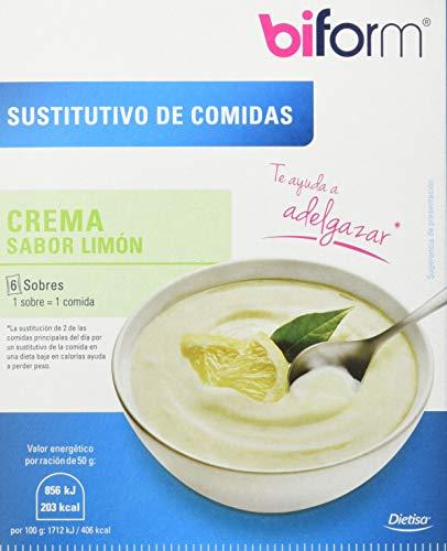 Biform Sustitutivo Crema Limón, Sutituye una Comida. 6 sobres x