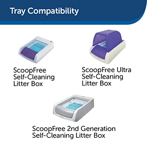 PetSafe ScoopFree Self-Cleaning Cat Litter Box Tray Refills with Premium Blue Non-Clumping Crystals - 3 Pack