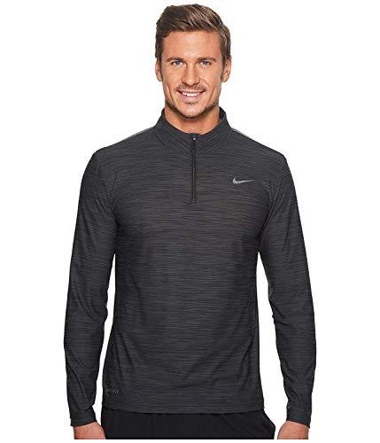 Nike Men's Breathe Dry Quarter Zip Long Sleeve Shirt (Black, Small)