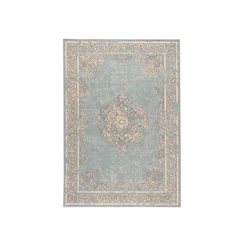 FRAAI | Home & Living Vintage Teppich - Famous Blau, hellblau, meeresblau Teppich, super weich und...