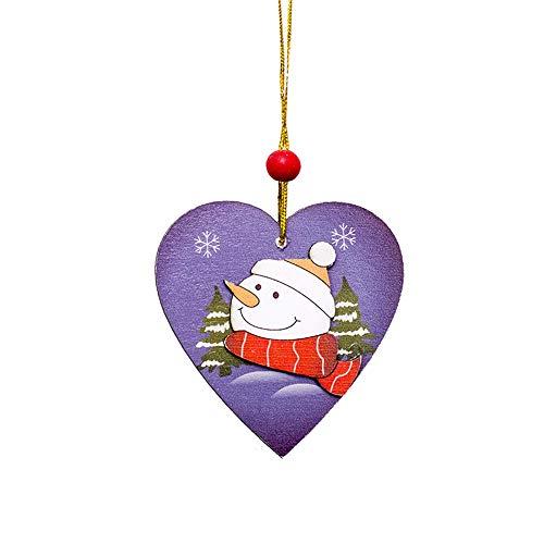 Alikey Houten slee met houten hanger, 1 stuks, geschikt als cadeau, voor deur, huisdecoratie, om op te hangen, Santa Christmas Tree Wood Slee, cadeau, hangende decoratie Frans Eén maat B