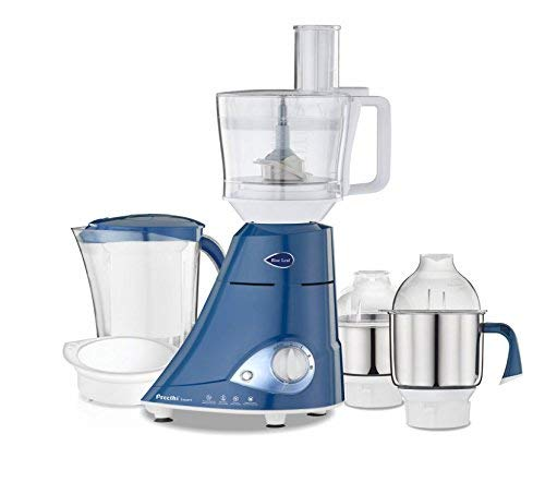Preethi MG214 Blue Leaf Expert Mixer Grinder, 750W, 3 jars with Master Chef Jar