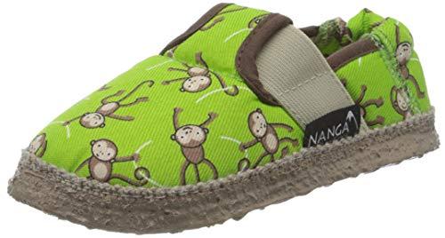 Nanga Jungen Kinder Hausschuhe Lustige Affen grün 26