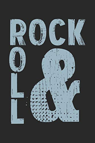 Rock & Roll: Notebook A5 Size, 6x9 inches, 120 lined Pages, Rock 'N' Roll Music Guitar Metal Hard Rock Vintage