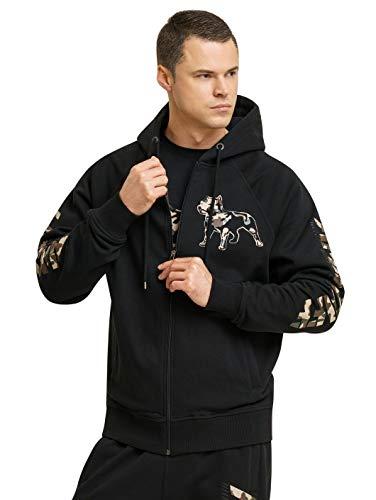 Amstaff Logo 2.0 Männer Zip Hoodie Kapuzen Pullover Jacke Camouflage M
