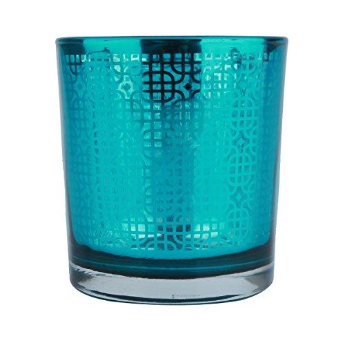 Castiçal de Vidro Bright Colors Urban Azul
