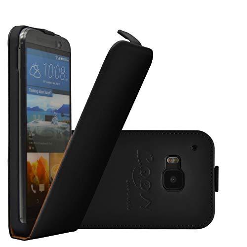 COOVY® Cover für HTC ONE M9 Slim Flip Hülle Tasche Etui inklusive gratis Bildschirmschutzfolie | Farbe schwarz